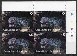 1987 SAINT-VINCENT GRENADINES 531** Faune Marine, Poisson, Murène, Issu De Série, Bloc De 4, Côte 23.00 - St.Vincent & Grenadines