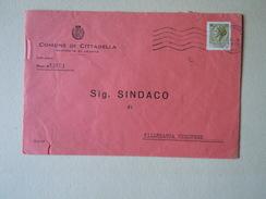 TEMATICA BUSTE COMUNALI - COMUNE DI  CITTADELLA 1969 - Buste