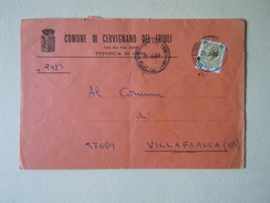 TEMATICA BUSTE COMUNALI - COMUNE DI  CERVIGNANO DEL FRIULI  1969 - Buste