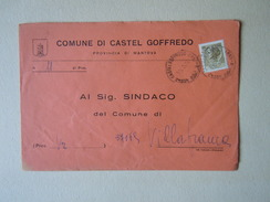 TEMATICA BUSTE COMUNALI - COMUNE DI  CASTEL GOFREDO   1969 - Buste
