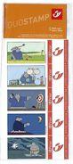 BELGIQUE - BELGIE Mijn Zegel DUOSTAMP  -  Strook Van 5 Postzegels Le Chat -  Geseald - Belgique