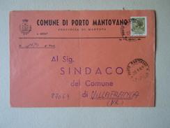 TEMATICA BUSTE COMUNALI - COMUNE DI  PORTO MANTOVANO N 2    1969 - Buste