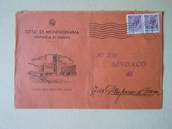 TEMATICA BUSTE COMUNALI - COMUNE DI  MONTAGNANA    1969 - Buste