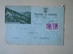 TEMATICA BUSTE COMUNALI - COMUNE DI  FUMANE   N 2 1969 - Buste