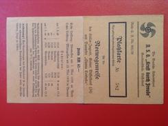 Kraft Durch Freude Platzkarte Reise Nach Norwegen 1939 Doppelschrauben Dampfer Sierra Cordoba Kapitän K. Strauch WW2 - Documents