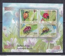 INDIA, 2017, Ladybird Beetle, Insect, Fauna, Miniature Sheet, MS,  MNH, (**) - Inde
