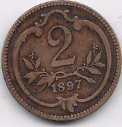 Autriche - 2 Heller - 1897 - Autriche