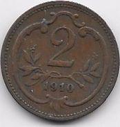 Autriche - 2 Heller - 1910 - Autriche