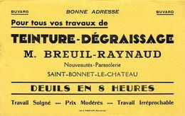 BUVARD COMMERCE TEINTURERIE DEGRAISSAGE BREUIL-RAYNAUD SAINT BONNET LE CHATEAU 42 LOIRE - Textile & Vestimentaire
