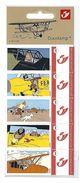 BELGIQUE - BELGIE Mijn Zegel DUOSTAMP  -  Strook Van 5 Postzegels KUIFJE - TINTIN  Vliegtuigen - Geseald - Belgique