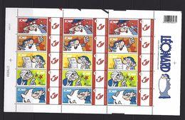 BELGIQUE - BELGIE Mijn Zegel Lot Van 3 X 5 Postzegels Duostamps Stripfiguur Leonardo Volledig Vel - Belgique