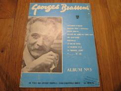 GEORGES BRASSENS - Album N°3 (10 Titres) - Spartiti