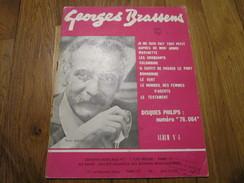 GEORGES BRASSENS - Album N°4 (10 Titres) - Spartiti