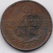 Autriche - 2 Kreuzer 1848 A - Autriche