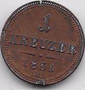 Autriche - 1 Kreuzer 1851 E - Autriche