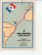 1er Vol Postal France Amerique Du Sud-Raid Interrompu 1935-Obliteration Marseille Gare. - Flugwesen