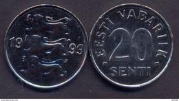 Estonia 20 Senti 1999 UNC - Estonia