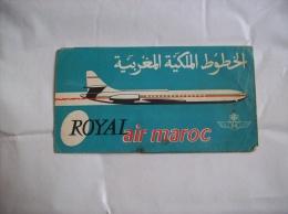 Ticket Billet D'avion Air France/ Air Maroc Casablanca-Paris 1962 - Titres De Transport