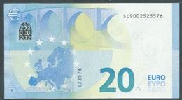 RARE - € 20 SERIE EUROPA ITALIA SC DRAGHI S001 UNC - EURO