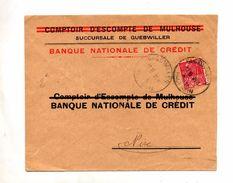 Lettre Cachet Guebwiller Entete Banque - Cachets Manuels