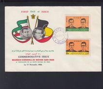 Iran FDC  1964 Belgian Royal Visit - Iran
