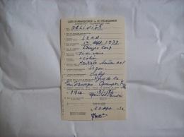 Carte D'embarquement 1954- Segou (Mali)- Orly (France) - Titres De Transport