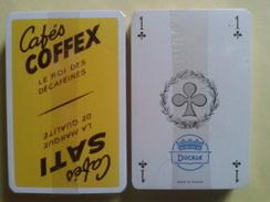 Cafés COFFEX Le Roi Des Décaféinés.Cafés SATI La Marque De Qualité. Jeu Neuf De 32 Cartes Sous Blister. - Playing Cards (classic)