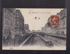 75 PARIS  Le Boulevard PEIREIRE   ,avec Le Train - France