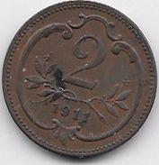 Autriche - 2 Heller 1911 - Autriche
