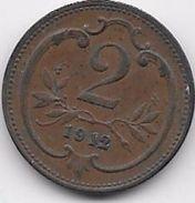 Autriche - 2 Heller 1912 - Austria