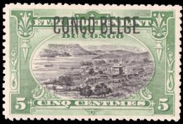 Congo 0040 * 5c Vert  Surcharge Typographique Dentelé 14 - Congo Belge