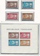 TOGO Scott 454-456, C35, C35a Yvert  387-389, PA 38, BF 10 (4+bloc) *LH Cote 4,5$ 1963 - Togo (1960-...)