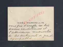 CDV CARTE DE VISITE NOEL MARCELLIN DIRECTEUR DU THEATRE MOGADOR À PARIS : - Faire-part