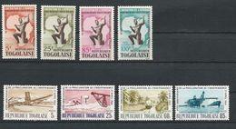 TOGO Scott 479-482, 483-485, C42 Yvert  412-415, 416-419-8, PA 44 (8) ** Cote 5,5$ 1964 - Togo (1960-...)
