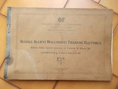 8885-RARO ALBUM DELLE TAVOLE LOCOMOTIVE E 552 - E 333 - E331-1928 - Ferrovie