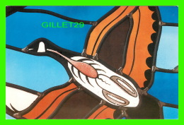 OISEAUX - OUTARDE CANADIENNE - GLASS FROM CHRIST THE KING CATHEDRAL, MOOSONEE, ONTARIO- 1987 - - Oiseaux