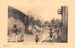 ¤¤  -  DAHOMEY   -  PORTO-NOVO  -  Quartier Indigène   -  ¤¤ - Dahomey