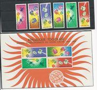 TOGO Scott 500-505, 505a  Yvert  429-434, BF13 (6+bloc) **cote 6$ 1964 - Togo (1960-...)