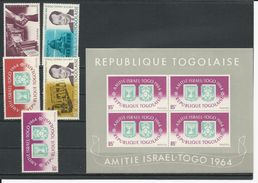 TOGO Scott 506-510, 510a Yvert  439-443, BF15 (5+bloc) **cote 7,25$ 1964 - Togo (1960-...)