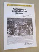 """PUB914  Dossiers Chocolat Images Poulain """"CONNAISSANCE DES CIVILISATIONS DISPARUES """" Complet Avec Toutes Ses Images , - Chocolat"""