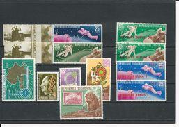 TOGO Scott 543-4,563-6,C81,645,655,C90,C104 Yvert  475-6,511-4, PA83,581, 587, PA92, PA104 (11) ** Et O Cote 9,80$1965-9 - Togo (1960-...)