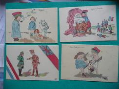 14-18 Grande Guerre 8 CP Illustrateur Enfants Orphelinat Des Armées - Sin Clasificación