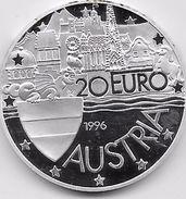 Autriche - 20 Euro Argent - 1996 - Austria