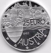 Autriche - 25 Euro Argent - 1997 - Austria