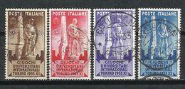 Italia. 1933. Juegos Universitarios De Turín. - 1900-44 Victor Emmanuel III