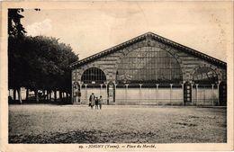 JOIGNY (89) La Place Du Marché - Rare - Belle Carte écrite Au Verso - Joigny