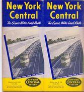 Tourisme - Timetables Schedules Dienstregeling  - Trains Treinen New York Central System - 1954 - World