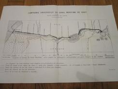 COMPAGNIE UNIVERSELLE DU CANAL MARITIME DE SUEZ - Plan Général Du Canal Au 31 Décembre 1926 - Cartes Marines