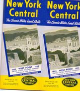 Tourisme - Timetables Schedules Dienstregeling  - Trains Treinen New York Central System - West Point 1952 - Monde