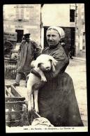 CPA ANCIENNE FRANCE- LES COCHONS EN FAMILLE A LA CAMPAGNE- UN BENJAMIN... LE DERNIER NÉ- ANIMATION TRES GROS PLAN- - Pigs